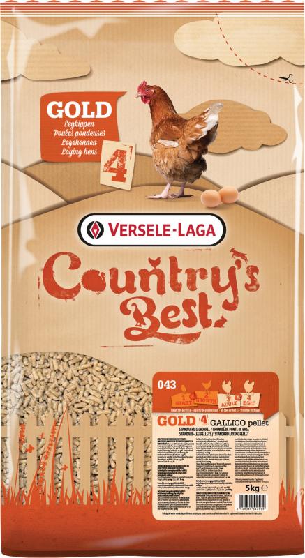 Gold 4 Gallico Pellet Country's Best Granulado de puesta de base a partir del primer huevo
