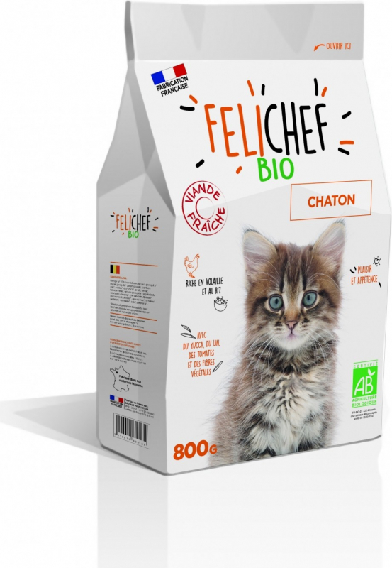 felichef bio croquettes bio pour chaton