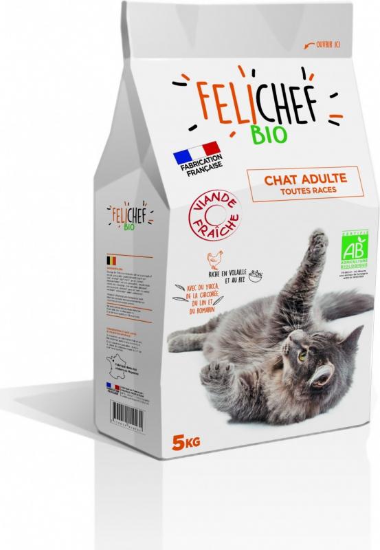 felichef bio croquettes bio pour chat adulte