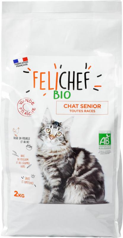 FELICHEF BIO Croquettes BIO pour Chat Senior