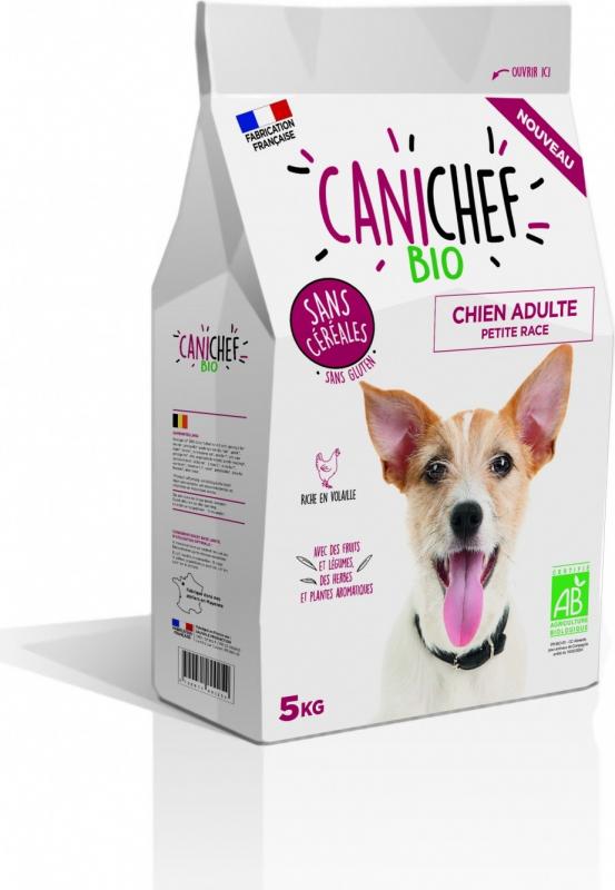 CANICHEF BIO Sans Céréales pour Chien de Petite taille