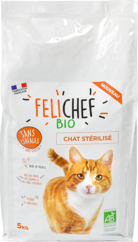 FELICHEF BIO Getreidefreies BIO Trockenfutter für sterilierte Katzen