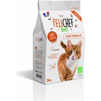 FELICHEF BIO Croquettes BIO Sans Céréales pour Chat sterilisé