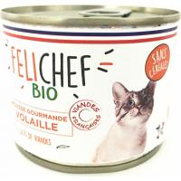 FELICHEF BIO Pâtée BIO Sans Céréales en Mousse pour Chat adulte - 2 saveurs au choix