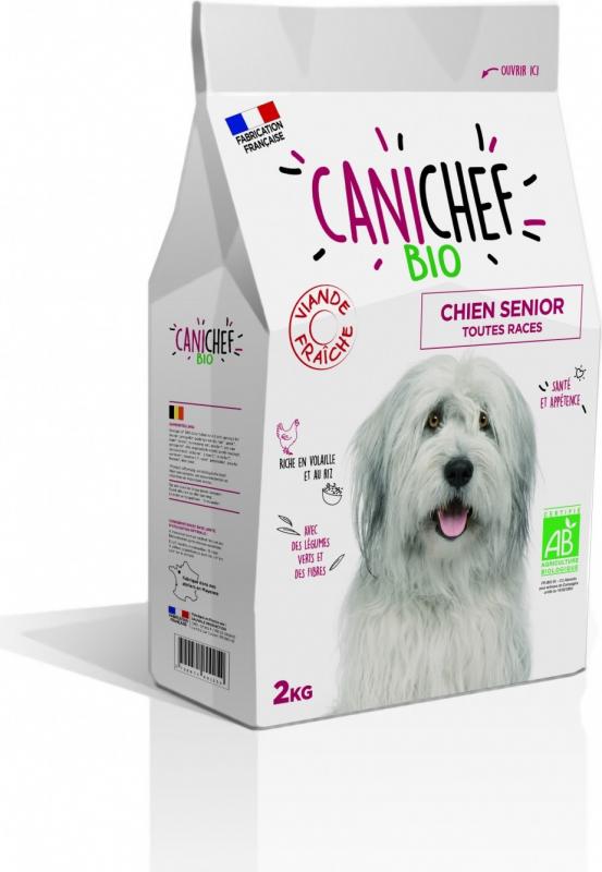 CANICHEF BIO Croquettes BIO pour Chien Senior