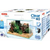 Aquarium Clear blanc avec angles arrondis