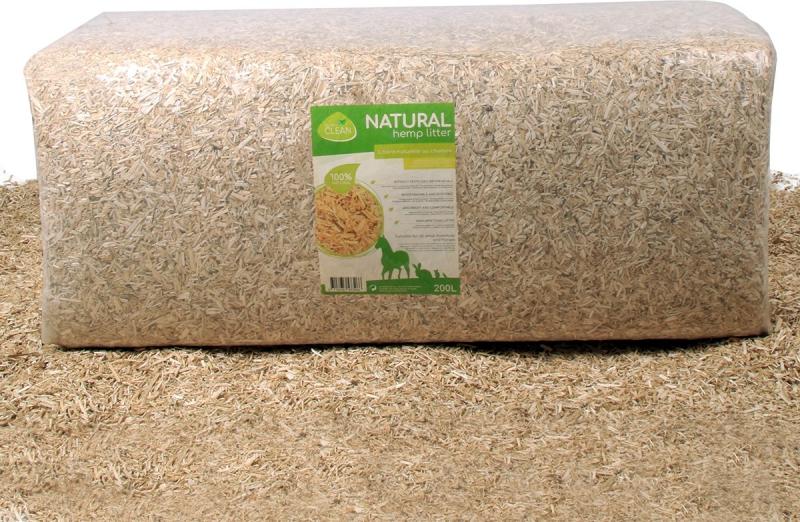 Litière chanvre 100% naturelle 100 ou 200L Quality Clean