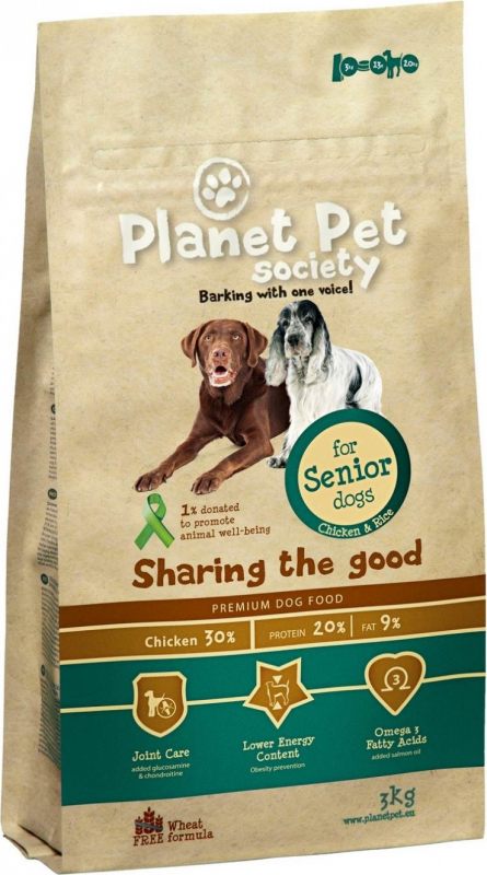 PLANET PET Senior Dog Poulet & Riz pour Chien âgé