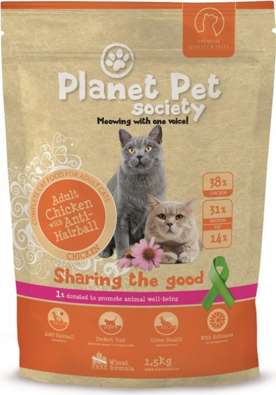 PLANET PET Anti Hairball para Gato Adulto