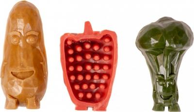 DUVO+ Garden Bites Veggie Friends - Golosinas vegetarianas para perro