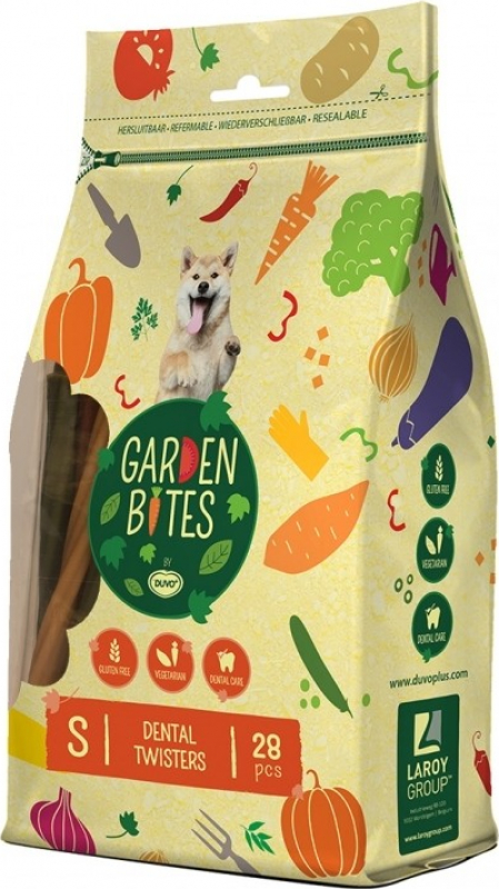DUVO+ Garden Bites Dental Twisters - Snack Dentaire Vegan pour chien