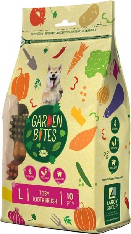DUVO+ Garden Bites Toby Toothbrush - Friandise Vegan pour Chien