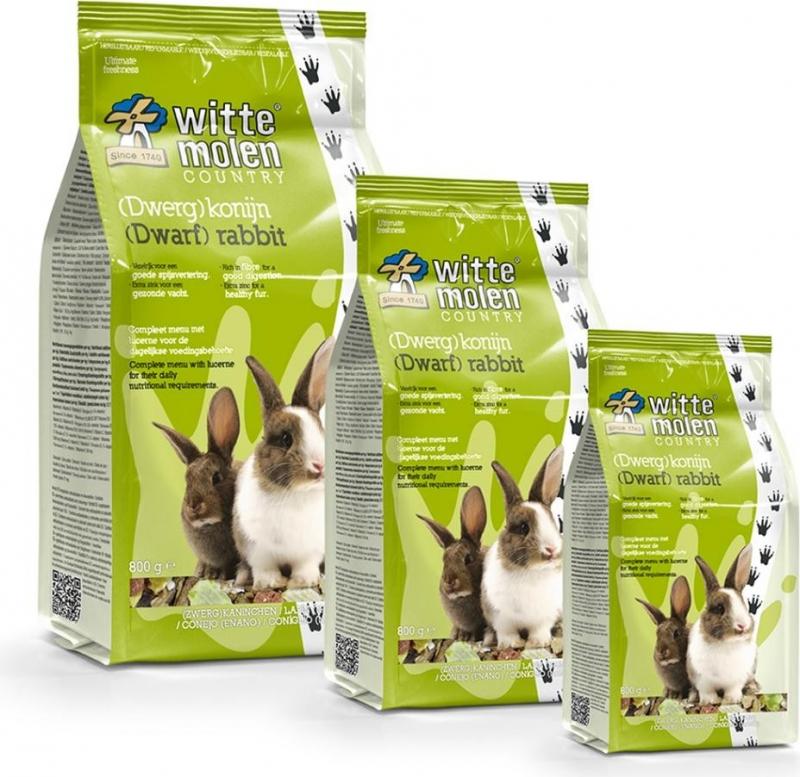Menu complet pour lapins Witte Molen Country