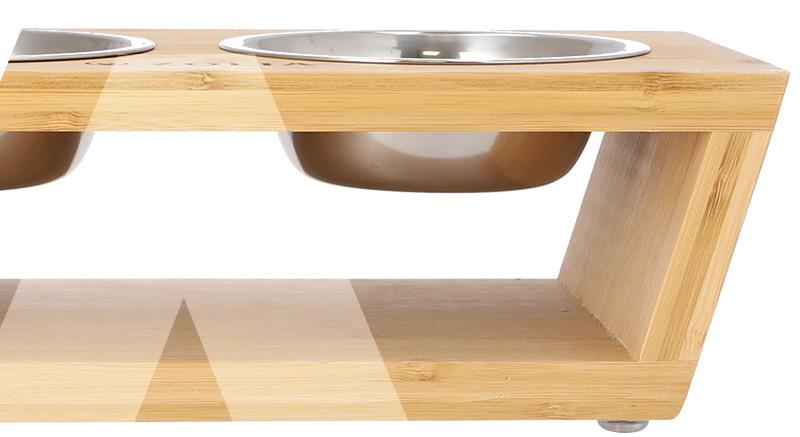 gamelle panda bowl bambou zolia surelevee