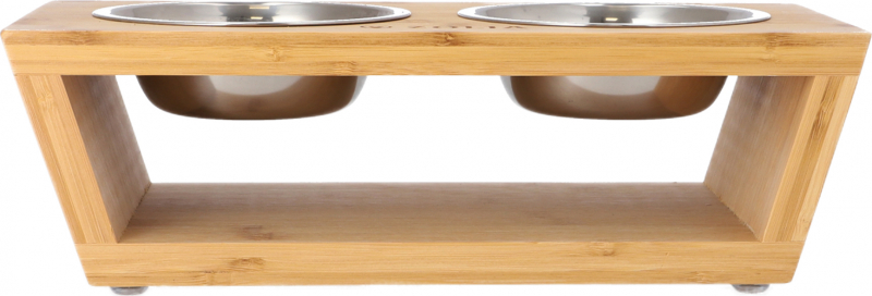 Gamelles orthopédiques support tendance en bambou Zolia Panda-Bowl