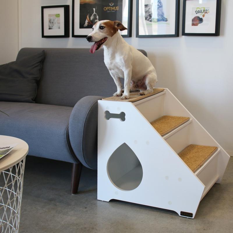 Escalier et niche d'intérieur pour animaux en bois Zolia Zeppelin