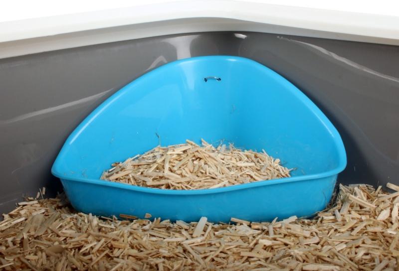 Banheira de esquina para todos os tipos de roedores ou coelhos Zolia - Adequado para todos os roedores