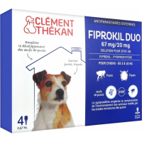 Pipettes antiparasitaires pour chien Clément Thékan Fiprokil DUO