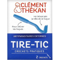 Clément Thékan Tire-Tic - 2 Crochets pour retirer les tiques