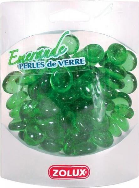 Perles de verre émeraude