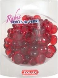 Perles de verre rubis