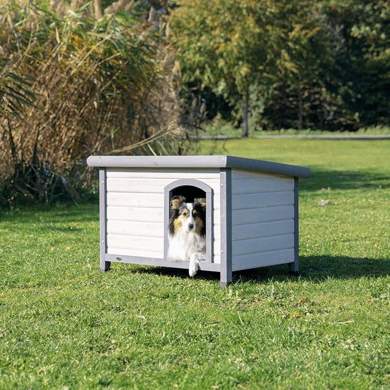 Niche pour chiens Classic Natura - Gris/Blanc