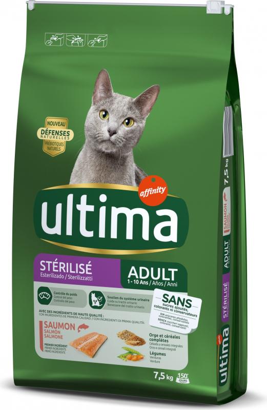Affinity ULTIMA Adult voor gesteriliseerde katten, met kip of zalm