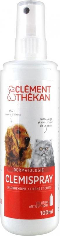 Clément Thékan Clemispray - Antiseptique pour Chien & Chat