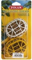 2 uds. material para la fabricación de nidos de pájaros + soporte