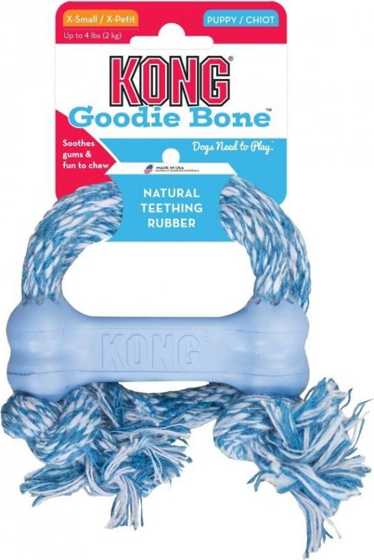 Jouet pour Chiot KONG Goodie Bone avec Corde