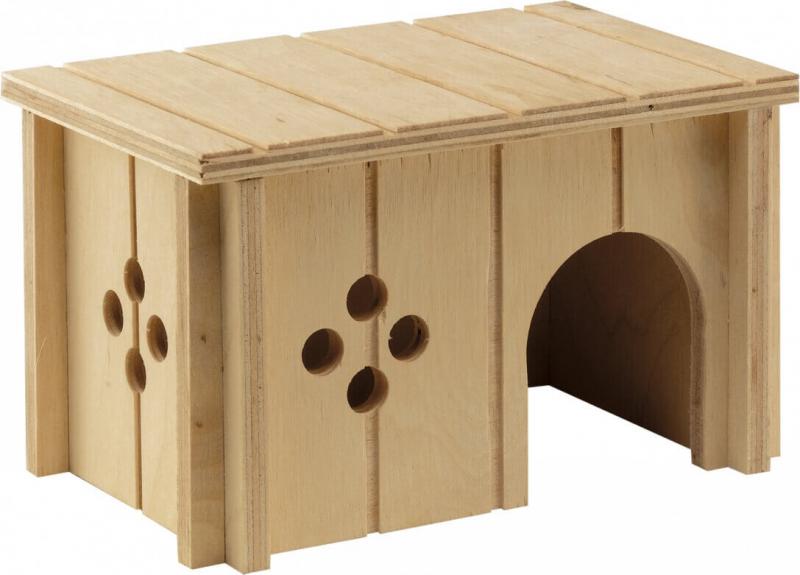 Houten huisje voor knaagdieren - Verschillende afmetingen