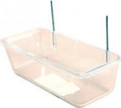 Mangeoire rectangulaire transparente