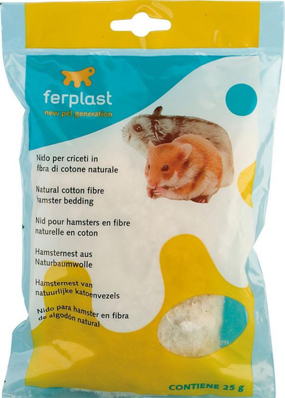Nid en fibres de coton naturelles pour hamsters