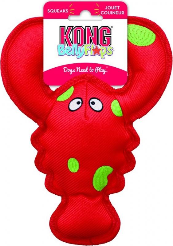 Jouet pour chien KONG Belly Flops™ Lobster/Homard