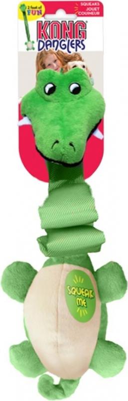 Jouet pour chien KONG Danglers Alligator