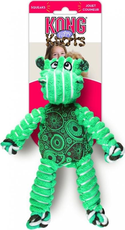 Jouet à mâcher en corde KONG Floppy Knots Hippo