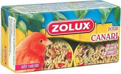 2 Becher mit Samen und Honig für Kanarienvögel