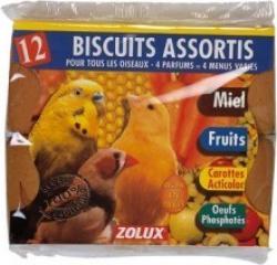 Biscuits pour oiseaux assortis (x12)