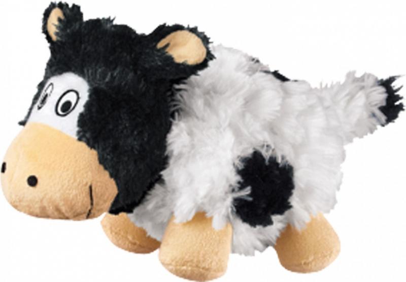 Peluche KONG Barnyard Cruncheez Cow