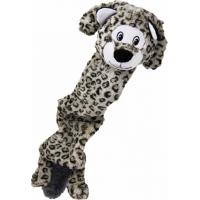 Jouet peluche KONG Stretchezz Jumbo Snow Leopard XL
