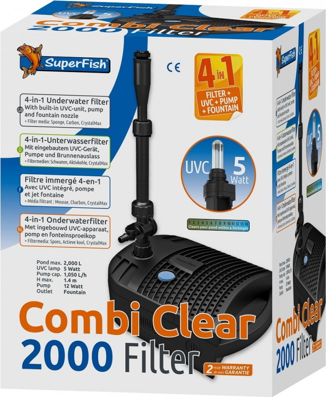 SuperFish Combi Clear Filtre immergé tout en un