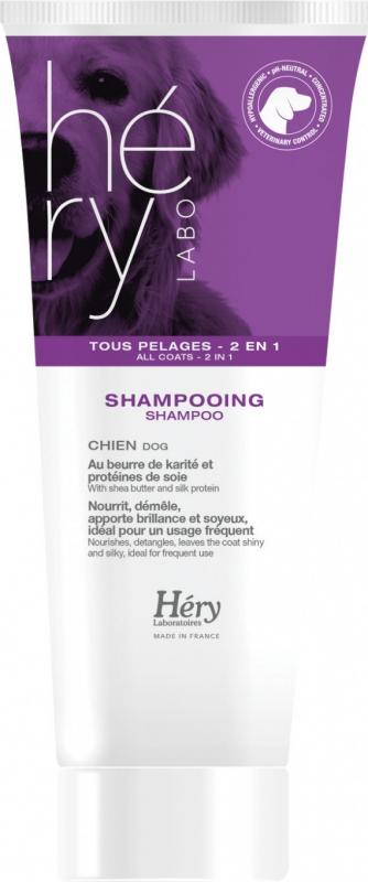 Shampooing pour chien Hery tout pelage 2en1