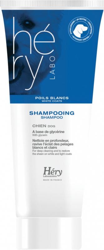 Shampoing pour chiens à poils blancs Hery