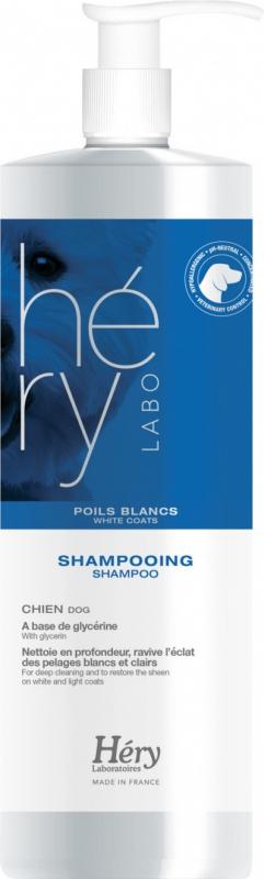Shampooing pour chiens à poils blancs Hery