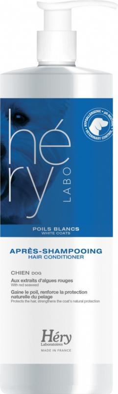 Après-shampooing pour chien aux poils blancs Hery