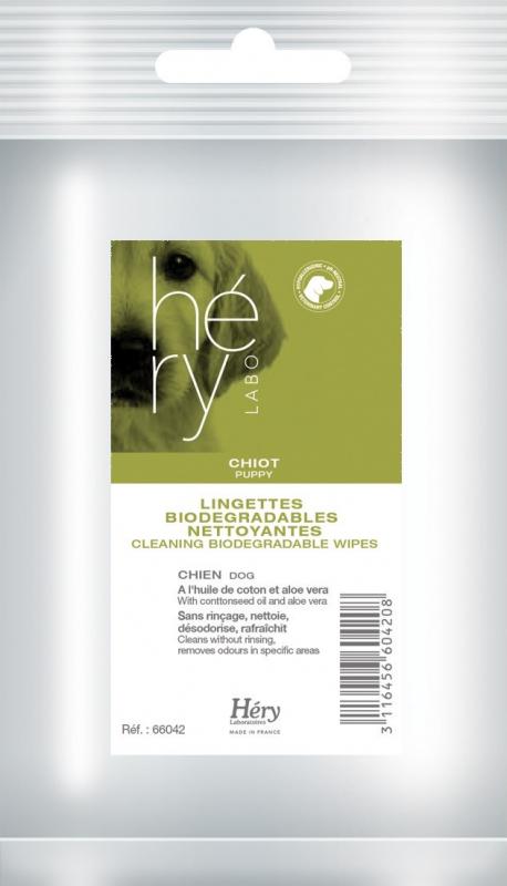 Lingettes nettoyantes pour chiot Hery