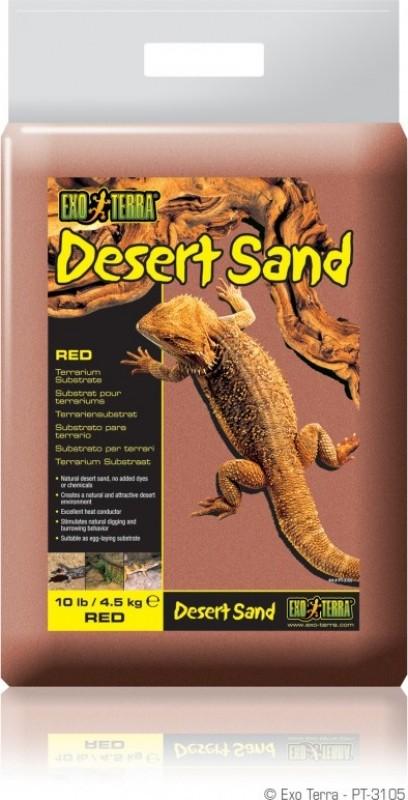 Sable terrarium désertique Exo-Terra rouge