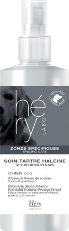 Soin contre le tartre et la mauvaise haleine du chien Hery