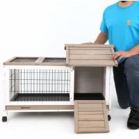 Clapier Intérieur / Extérieur pour lapins / cochons d'inde Zolia Floky - 95 cm