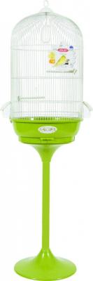Cage Amarante avec pied, coloris vert